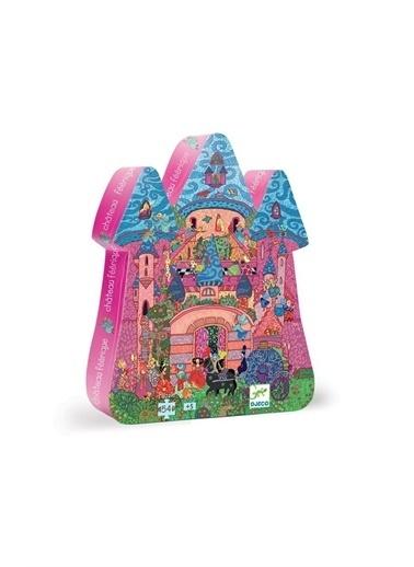 Djeco Djeco Dekoratif Puzzle 54 Parça/The Fairy Castle Pembe
